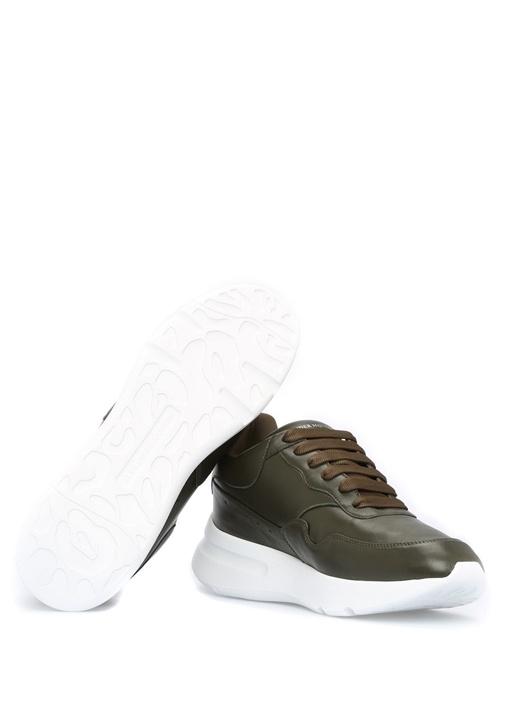 Runner Deri Haki Erkek Sneaker