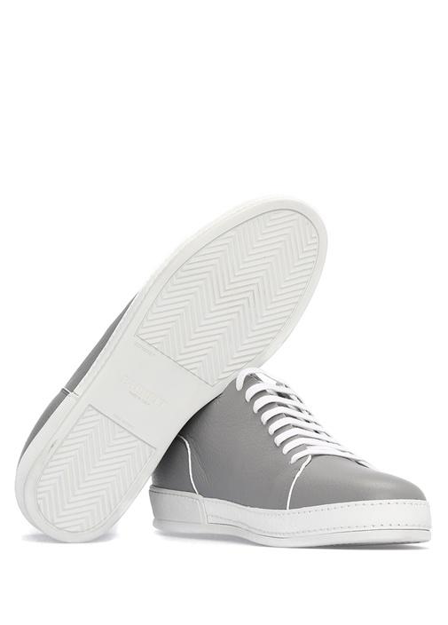 Gri Deri Erkek Sneaker