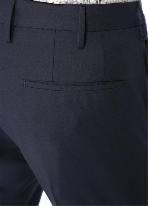 Lacivert Dar Paça Pantolon