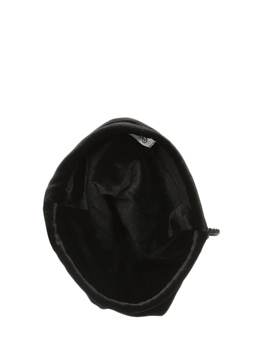 Ophelia Kadife İnci Detaylı Siyah El Çantası