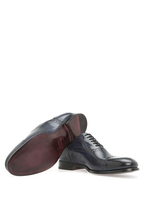 Lacivert Deri Oxford Ayakkabı