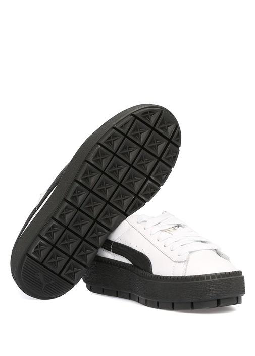 Platform Trace Beyaz Kadın Deri Sneaker