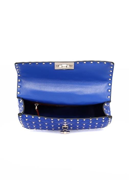 Mavi Rockstud Kadın Deri Çanta