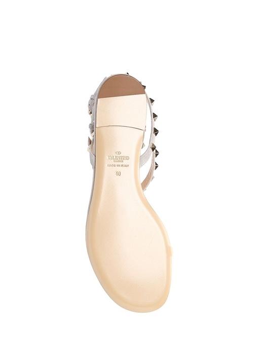 Rockstud Süet Kadın Sandalet