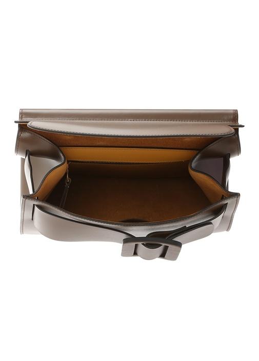 Karl Kahverengi Kemer Detaylı Kadın Deri Çanta