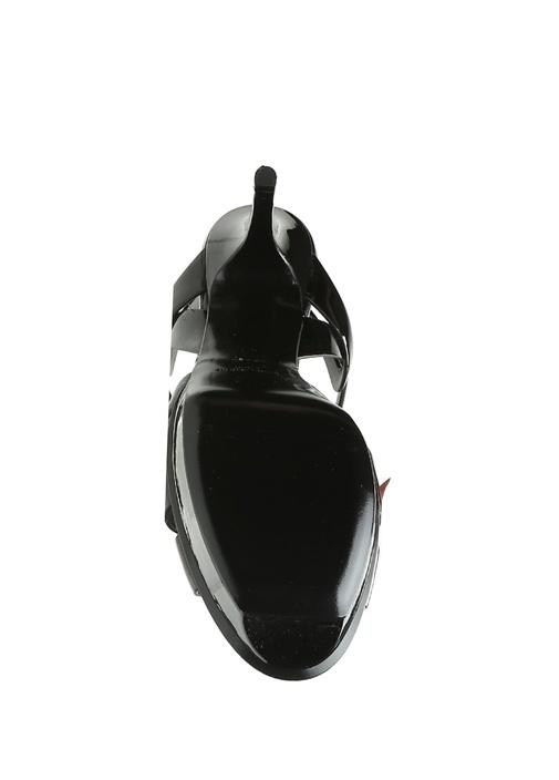 Tribute Siyah Kadın Deri Sandalet