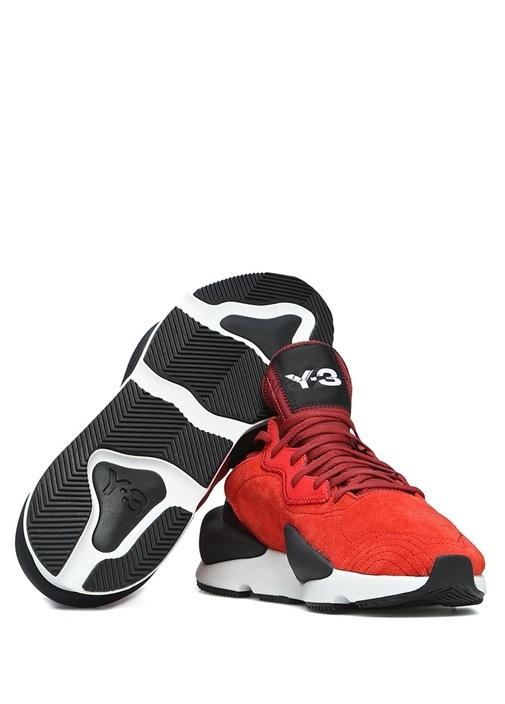 Kaiwa Kırmızı Logolu Erkek Süet Sneaker