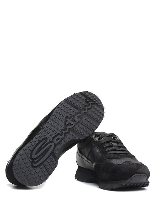 Geometrik Desenli Kalın Tabanlı Erkek Deri Sneaker