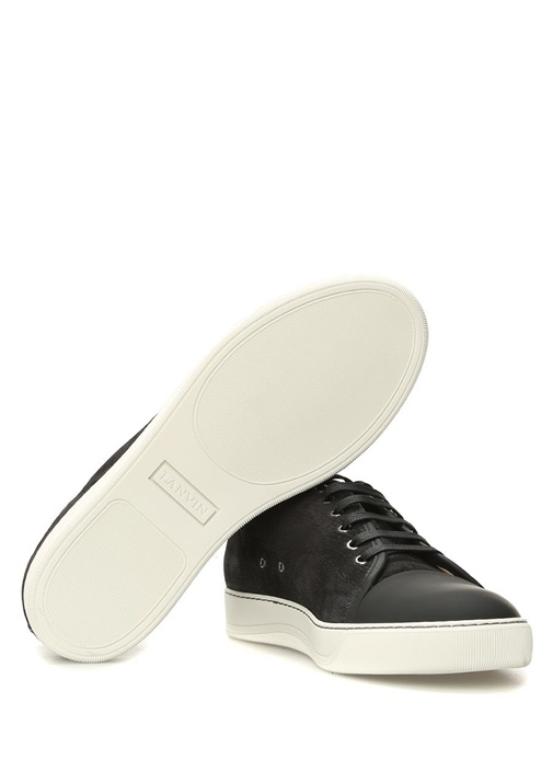 Siyah Dokulu Erkek Nubuk Sneaker