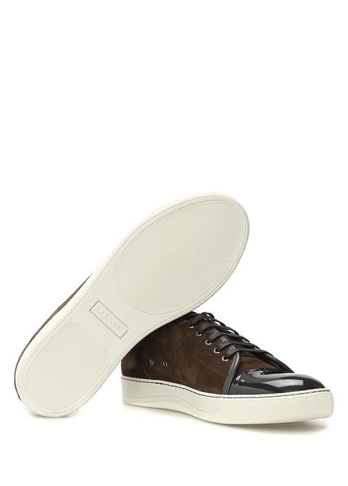 Kahverengi Rugan Detaylı Süet Erkek Sneaker