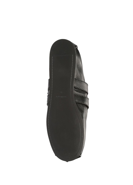 Siyah Kırmızı Çorap Formlu Kadın Deri Babet