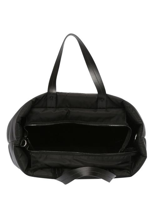 Medium Padded Siyah Kadın Alışveriş Çantası