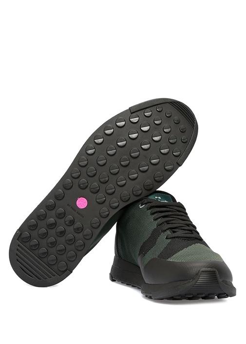Rappid Yeşil Desenli Dokulu Erkek Sneaker