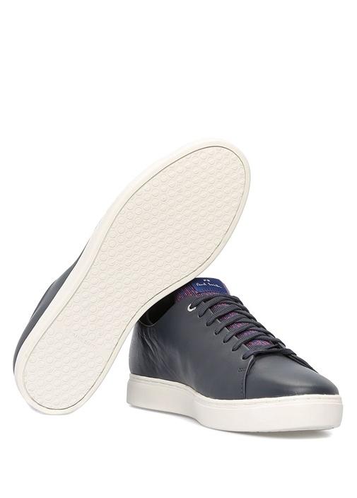 Sonix Lacivert Garni Detaylı Erkek DeriSneaker