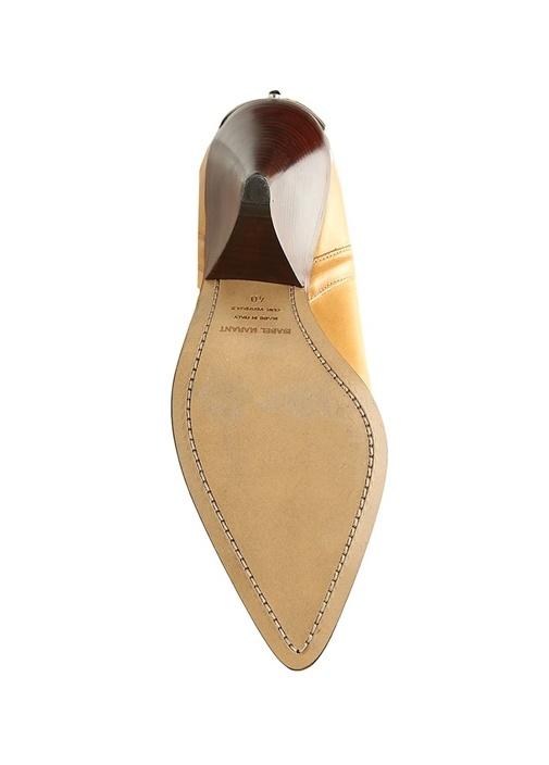 Lafsten Hardal İşlemeli Plakalı Kadın Deri Çizme