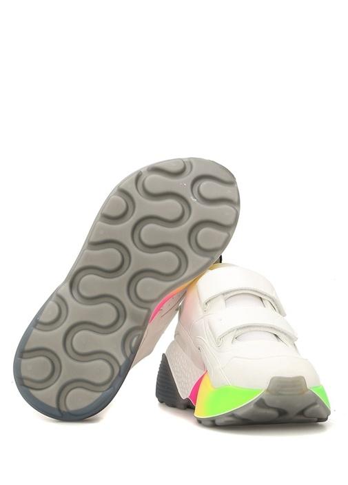 Beyaz Tabanı Renk Detaylı Kadın Sneaker