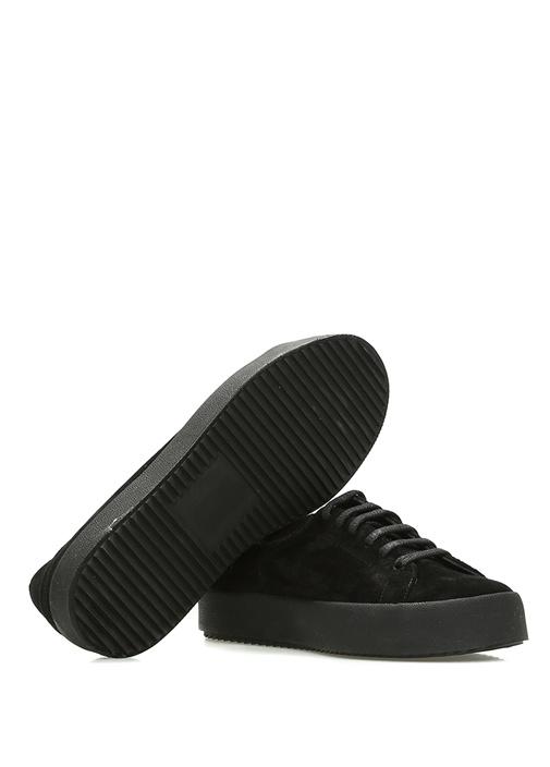 Siyah Kadın Süet Sneaker