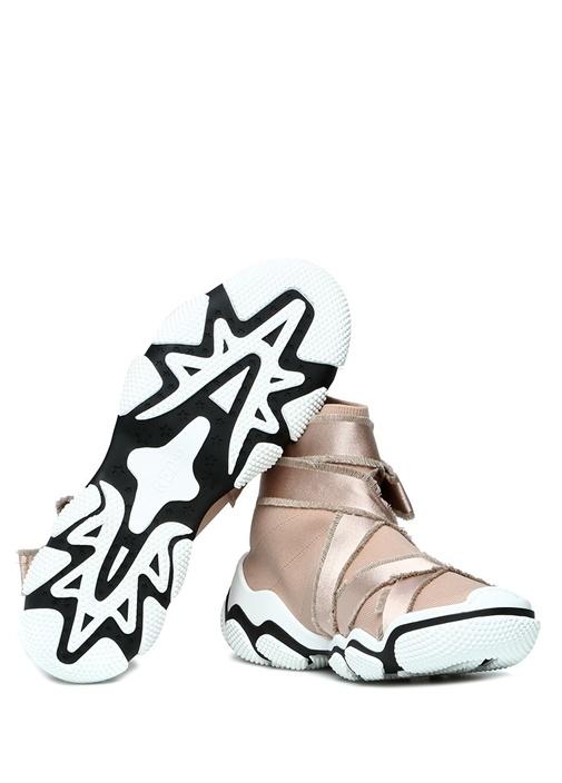 Glam Run Nude Şeritli Streç Örme Kadın Sneaker