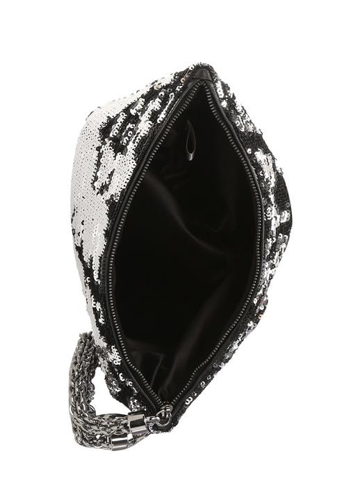 Callie Silver Siyah Pullu Kadın Abiye Çanta
