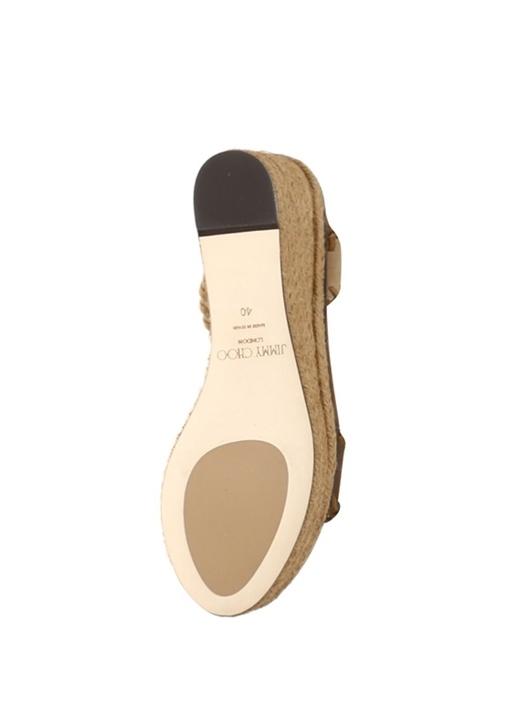 Abigail Bej Platformlu Kadın Süet Sandalet