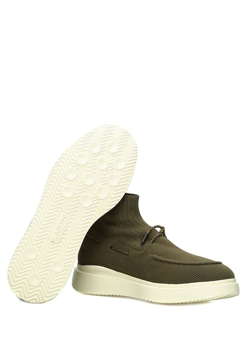 Haki Örgü Dokulu Jakarlı Erkek Sneaker