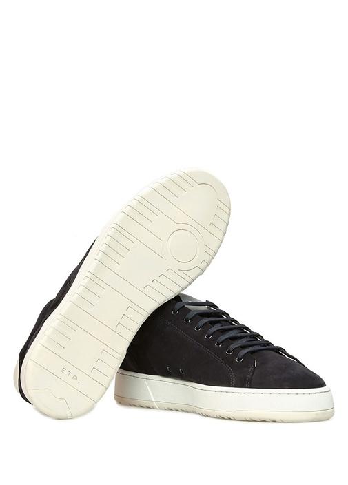 Lacivert Logolu Erkek Nubuk Sneaker