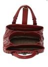 Mini Roma Kırmızı Örgü Dokulu Kadın Deri Çanta