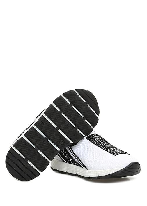 Sorrento Beyaz Taşlı Logolu Kız Çocuk Sneaker