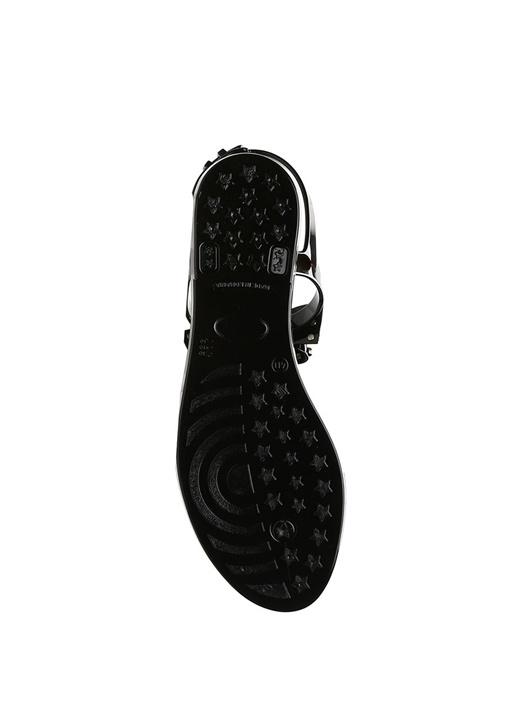 Siyah Fiyonk Detaylı Kadın Sandalet