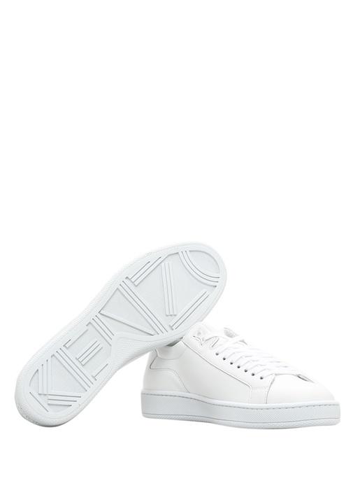 Tennix Beyaz Mavi Logo Baskılı Kadın Sneaker