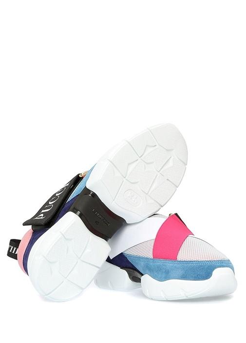 City Cross Mavi File Dokulu Logolu Kadın Sneaker