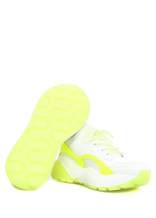 Eclypse Beyaz Neon Sarı Renk Detaylı Kadın Sneaker
