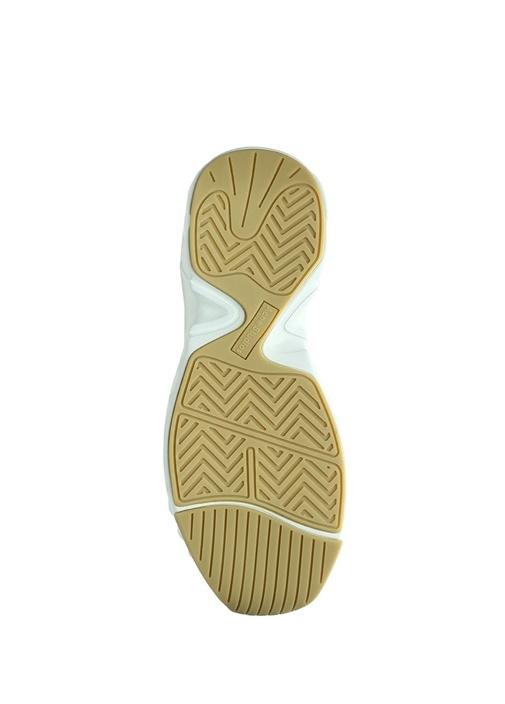 Beyaz Logolu Bilek Detaylı Kadın Deri Sneaker