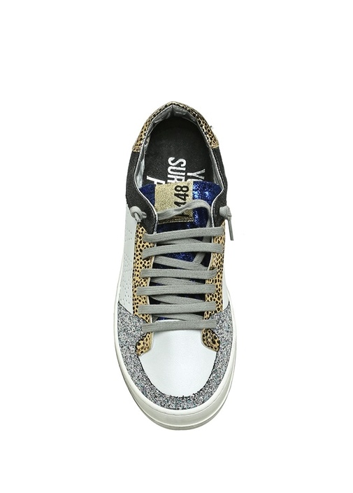 A8 Queens Beyaz Silver Simli Kadın DeriSneaker