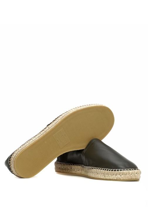 Haki Gold Logolu Erkek Deri Loafer
