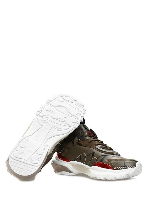 Bounce VLTN Haki Erkek Deri Sneaker