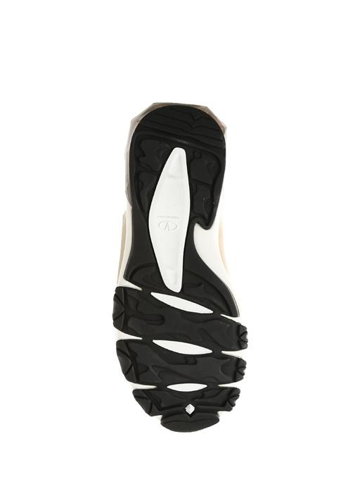 Siyah Garni Detaylı Bilekli Erkek Deri Sneaker
