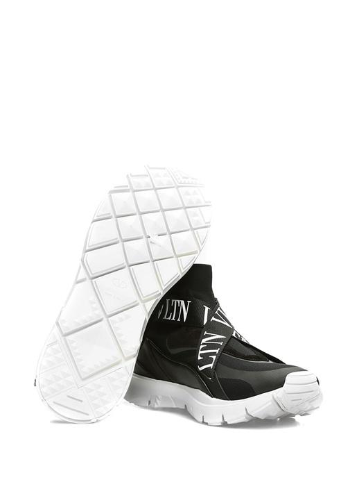 Heores Siyah Logo Şeritli Erkek Deri Sneaker