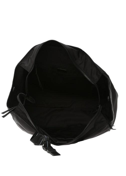 Siyah Logolu Alışveriş Çantası