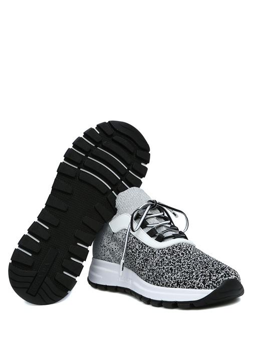Metalik Silver Örgü Dokulu Kadın Sneaker