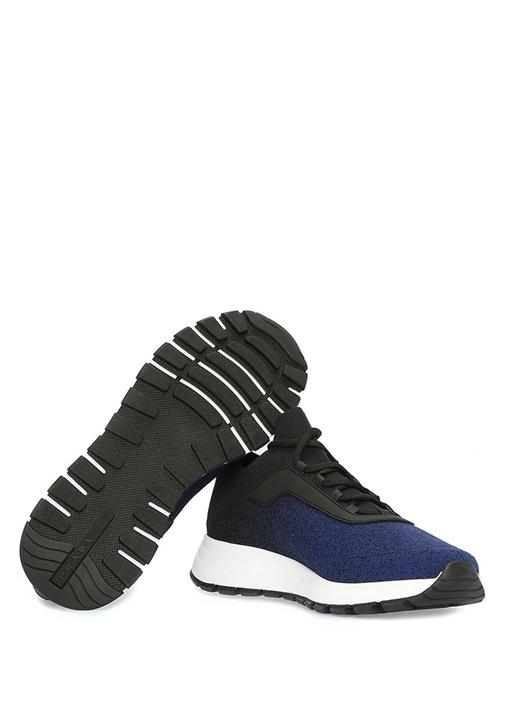 Siyah Lacivert Örgü Dokulu Erkek Sneaker