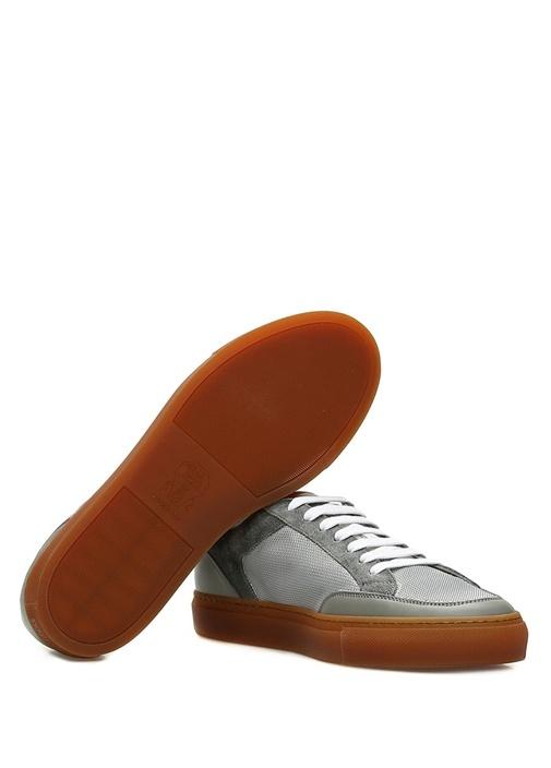 Gri File Dokulu Erkek Sneaker