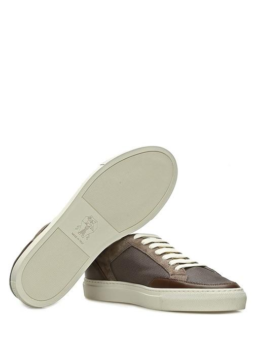 Kahverengi File Dokulu Erkek Sneaker