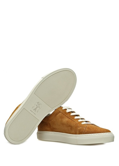 Taba Logolu Erkek Süet Sneaker