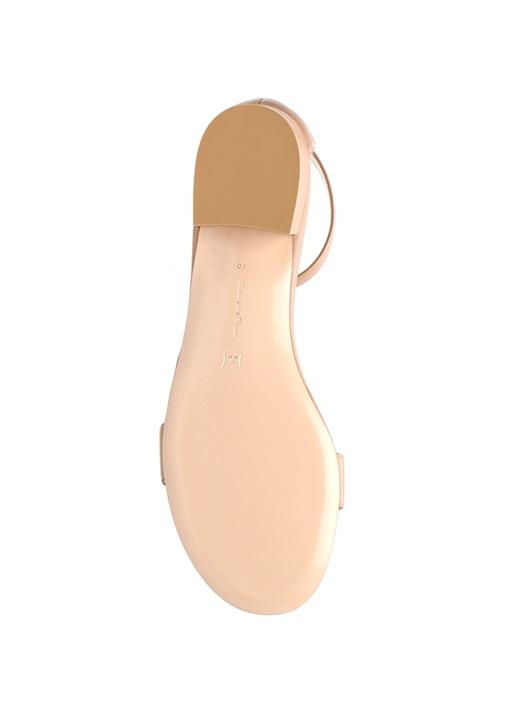 Portofino 20 Bej Kadın Deri Sandalet