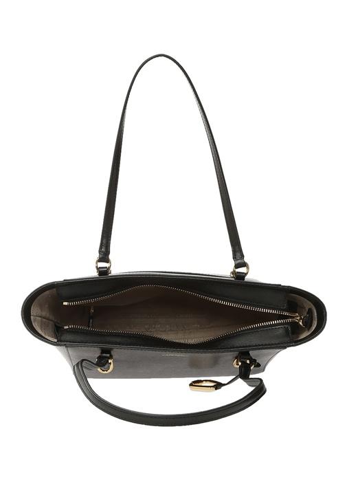 Bennington Siyah Logolu Kadın Deri Çanta