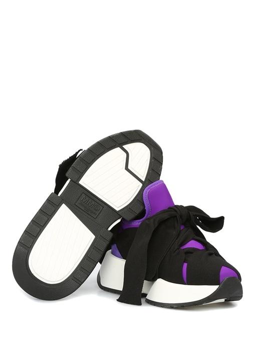 Mor Siyah Taban Detaylı Kadın Sneaker