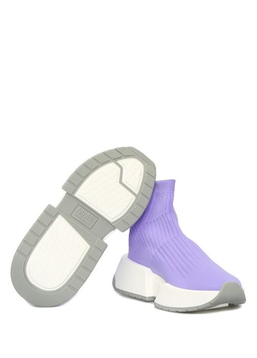 Lila Çorap Formlu Ribli Kadın Sneaker