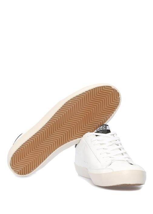 Superstar Beyaz Siyah Erkek Deri Sneaker