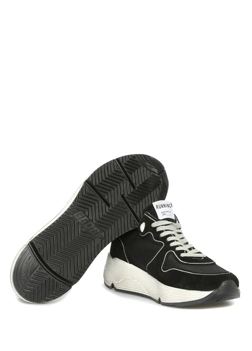Running Siyah Taban Detaylı Erkek Süet Sneaker